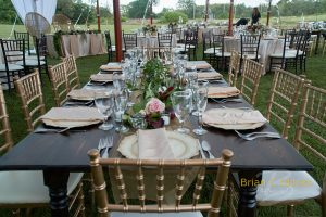 Jacobean Farm Table Rentals in Tampa